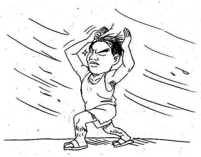 当惠东的十二星座不住台风:吹啊吹啊,就是越狠表情包大风想你扛遇上图片