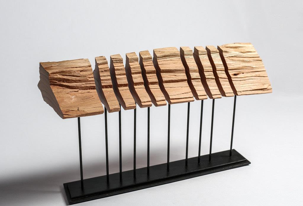 艺术般的极简木雕灯具,让自然点亮生活