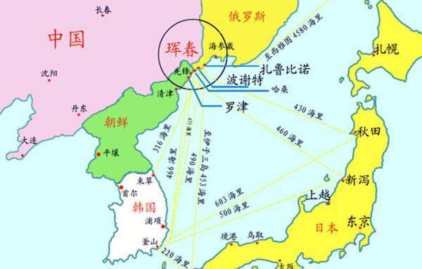如何使中国的珲春与俄罗斯远东港口城扎鲁比诺与朝鲜的罗津港联结起来