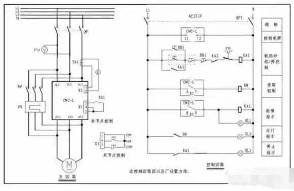 软起动器端子1l1,3l2,5l3接三相电源,2t1,4t2,6t3接电动机.