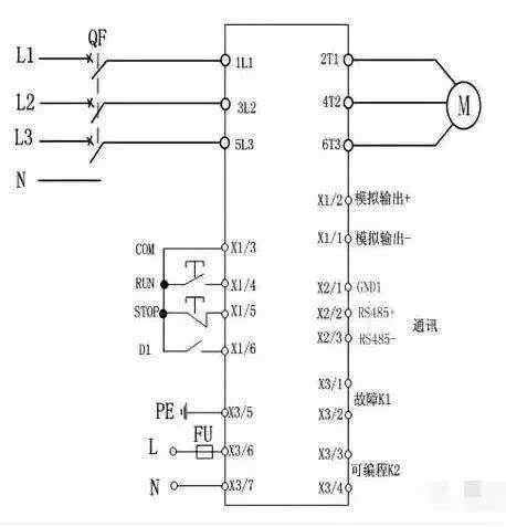 三角形内接连接时,用户必须严格按照下图进行连接,否则有可能导致电机