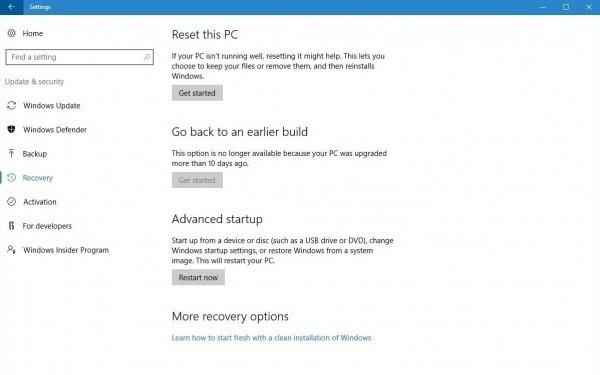 """Windows 10周年更新:将""""后悔期""""从30天调整至10天的照片"""