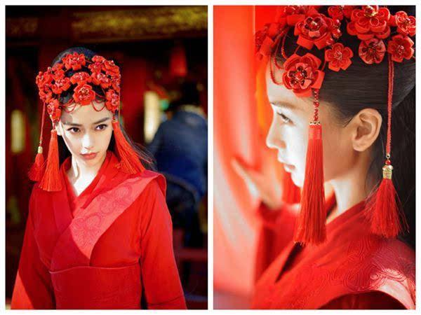红衣古装手绘情侣