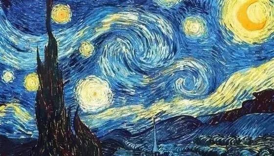绘画临摹课程 梵高作品 星空