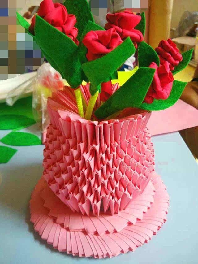★家居diy:情人节玫瑰花手工折纸