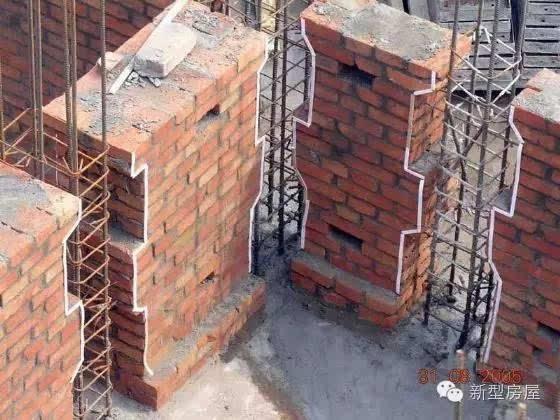 砖混结构构造柱马牙槎