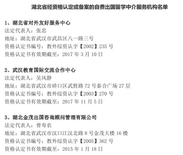 湖北取消境外学历学位认证7项证明 | 25家出国