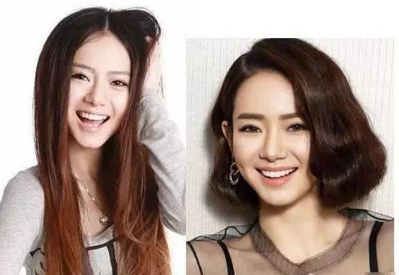 韩国短发女明星图片