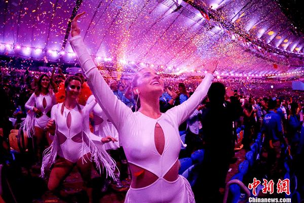 当地时间8月5日晚8时,2016里约奥运会开幕式在里约热内卢马拉卡纳体育场举行.
