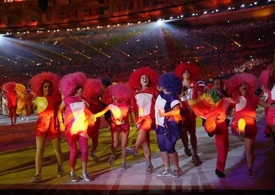 开幕式:中国桑巴舞动奥运图片