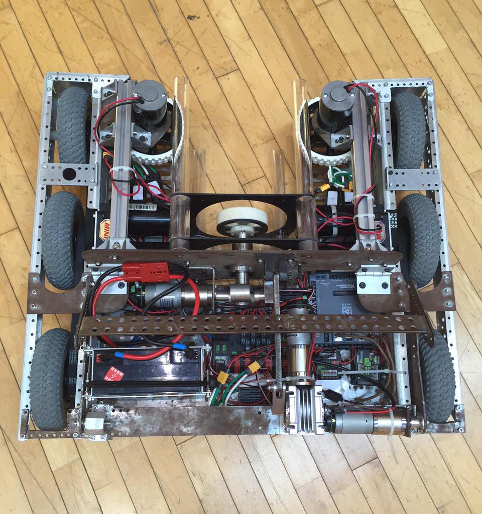 完成方案设计,结构装配,电子电路搭建,程序编写,机器人系统管理等步骤