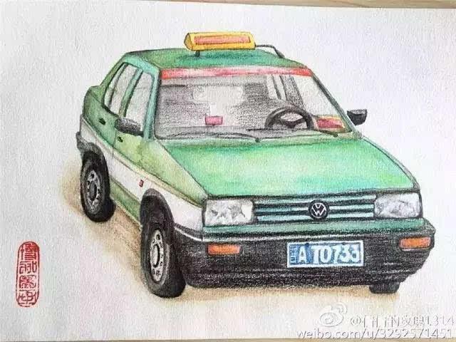 太原90后女孩手绘出租车变迁,故事从爷爷那个年代说起