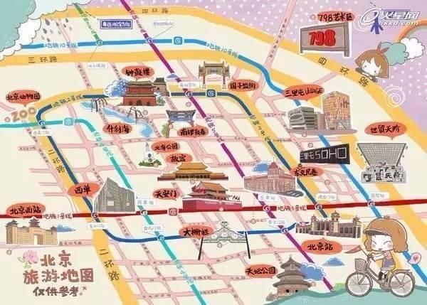 成都旅游手绘地图