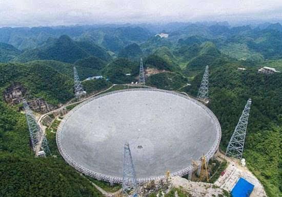 """中国FAST即将睁天眼 不必担心""""外星人威胁论""""的照片"""