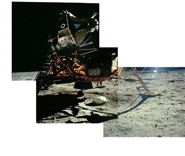 人类首次登月惊人照片公开 美国驳斥造假的照片 - 6