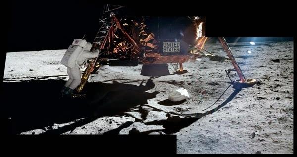 人类首次登月惊人照片公开 美国驳斥造假的照片 - 7