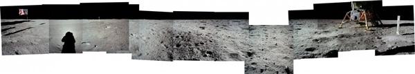 人类首次登月惊人照片公开 美国驳斥造假的照片 - 12