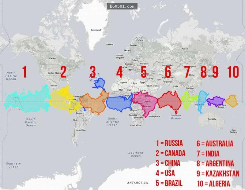 世界土地面积排名_中国未收回的领土