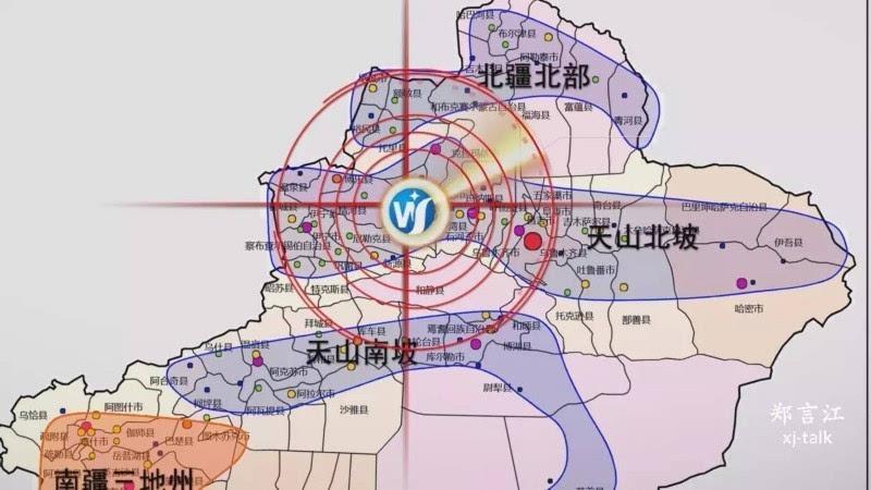 石河子市,沙湾县,玛纳斯县,4小时经济圈环绕乌鲁木齐市,昌吉市,塔城市