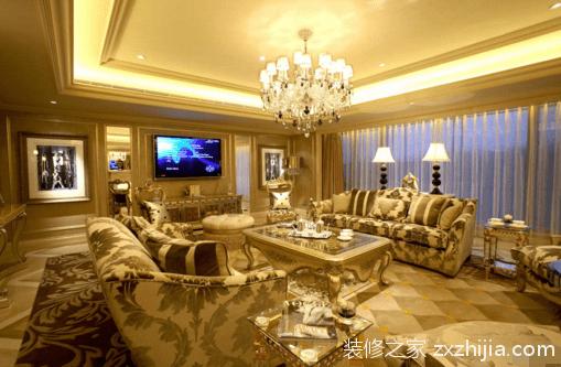 但是在欧式客厅装修,地面以铺地毯为主