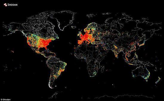 """一张图反映出""""互联网接入设备""""在全球覆盖情况的照片 - 2"""