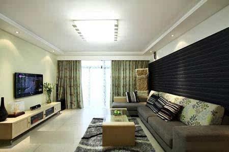100平方装修效果图:客厅沙发
