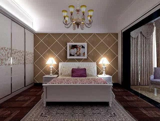 硅藻泥卧室装修效果图——欧式风格