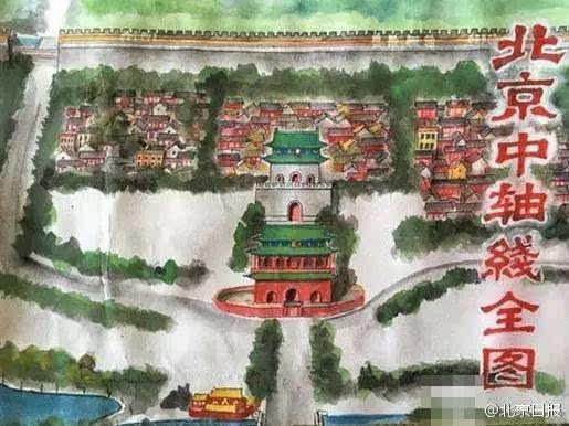 前门老人手绘北京街景,感动哭了