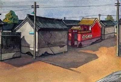 前门老人手绘北京街景