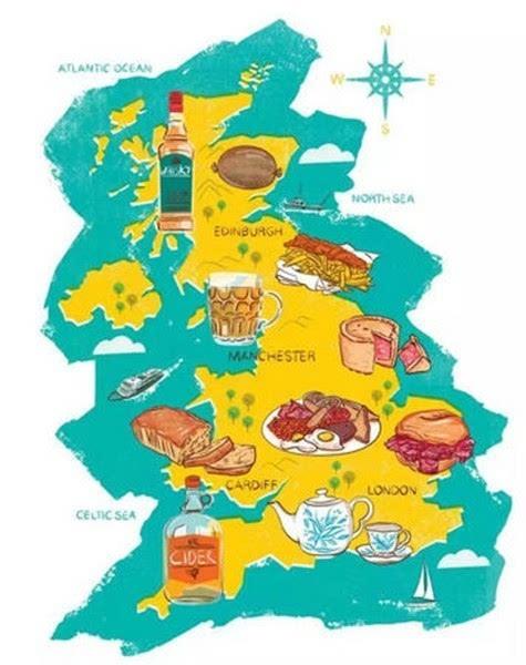 英国美食地图