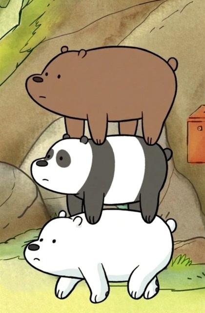 卡通动物熊可爱手机桌面壁纸