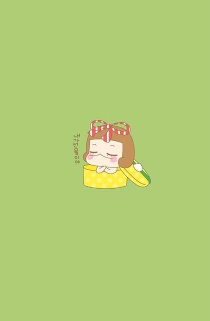 mungok蘑菇头卡通小妹苹果手机壁纸图片