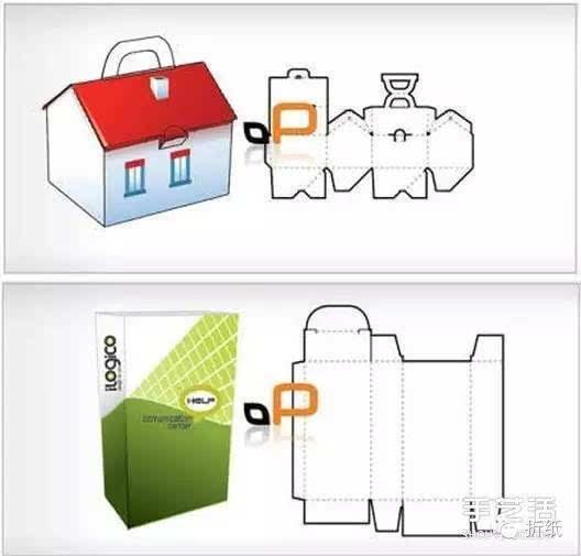 18种手工折纸包装纸盒的折法带打印图纸