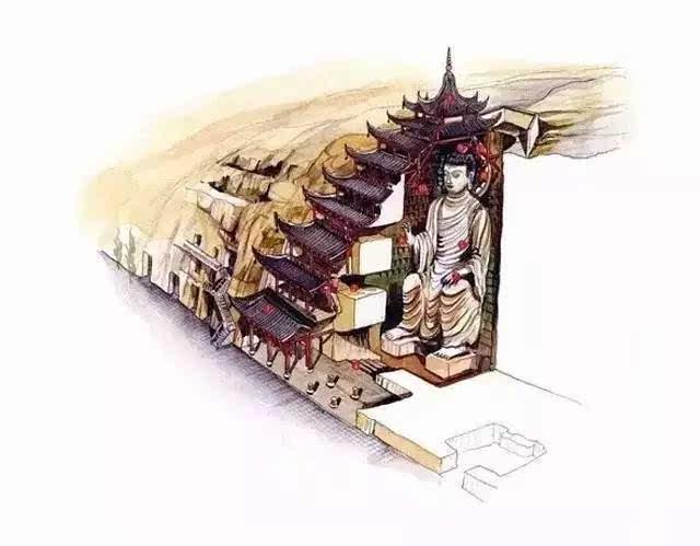 这是传说中的古代建筑手绘?美呆了