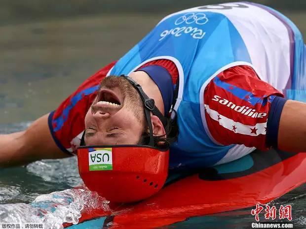 划艇瘫8月9日,美国门球皮划艇奥运回旋单人奥运决赛,里约运动员手表式激流计时器图片