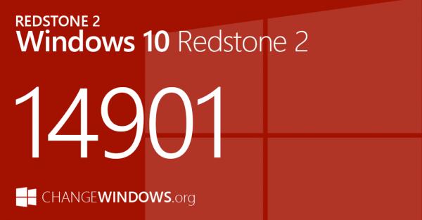 Windows 10 RedStone 2首个版本14901发布的照片 - 1