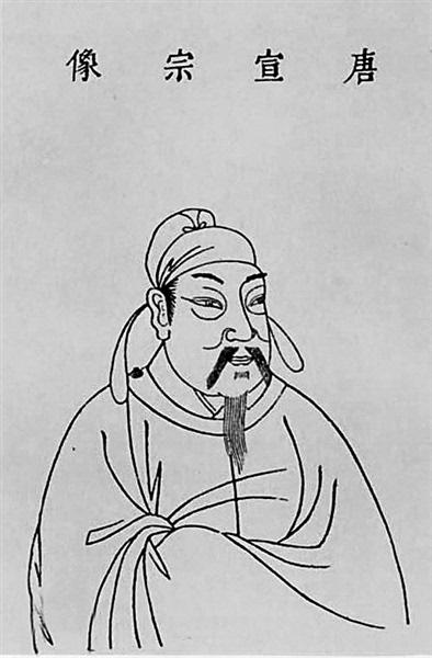 唐朝古装手绘铅笔画