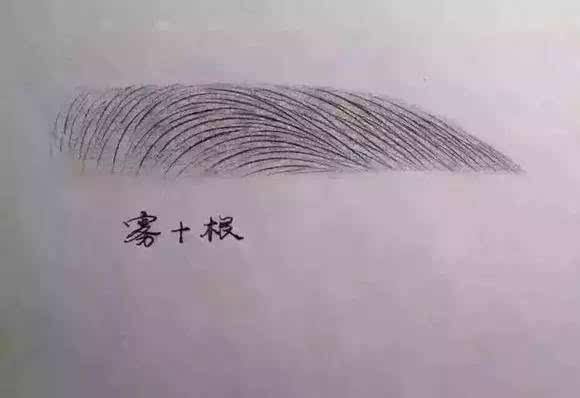 把自己手绘的眉毛作品拍照