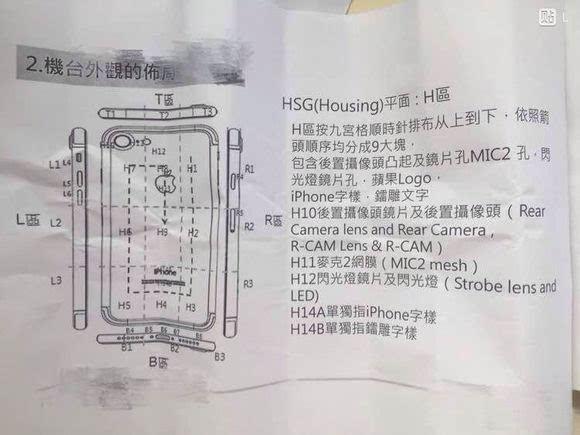 机身细节一览无遗:疑似iPhone 7生产图纸曝光的照片 - 4