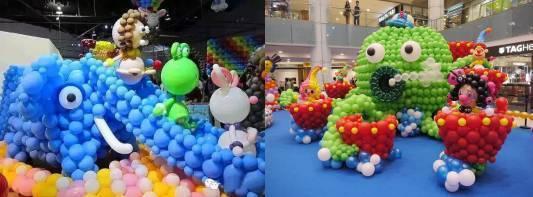 奇幻气球造型缤纷上演