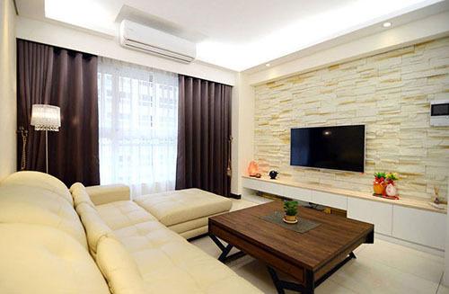 木质背景墙可以将木线条固定在墙上,也可以将木地板上墙或用木质饰