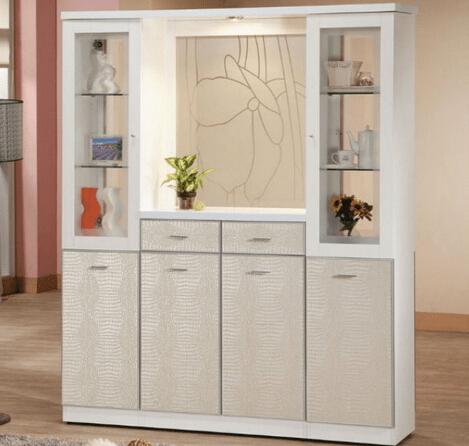 鞋柜屏风的收纳设计 与客厅完美融合