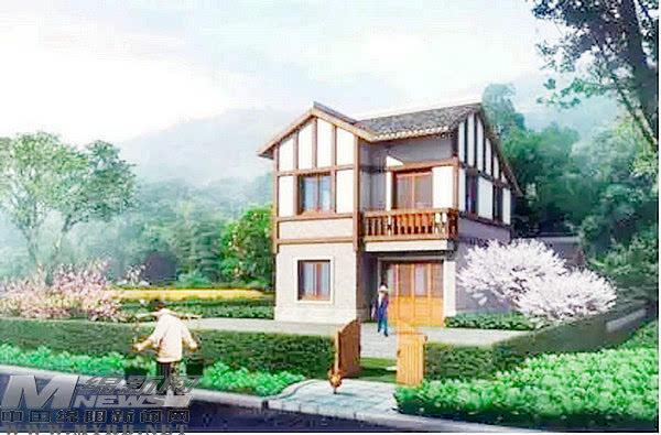 其它 正文  川西民居 主要满足低层住宅,以庭院为主要形式,色彩以冷色图片