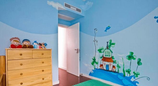 活泼生机儿童房 墙体彩绘案例