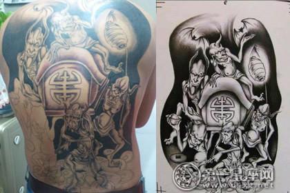 五鬼运财纹身图案大全,纹的人需要勇气