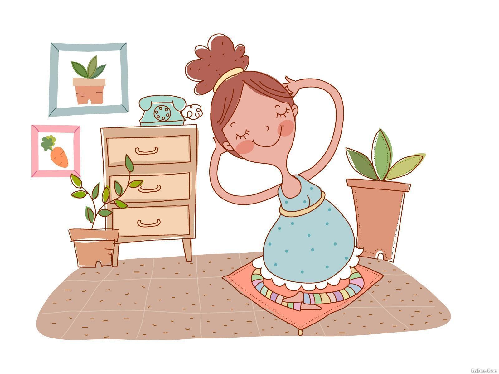 读书画画 还要给宝宝讲一些小故事