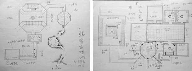 明朝古墓墓室平面结构图
