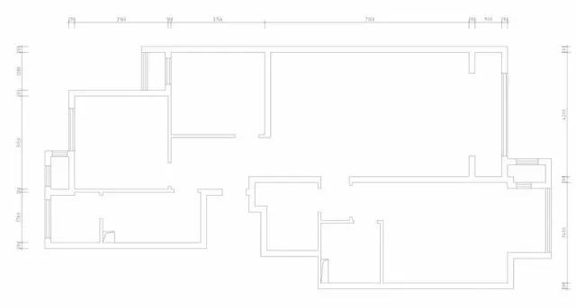 原始结构图 ▲ 一入户走廊上布置了鞋柜,穿衣镜,换鞋凳,衣帽钩等