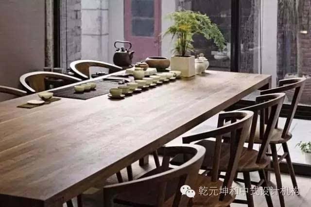 茶室木桌手绘图