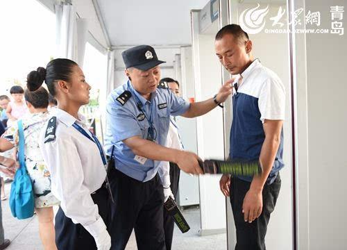 青岛国际啤酒节黄岛会场开幕以来,会场安保指挥部不间断的对园内游客